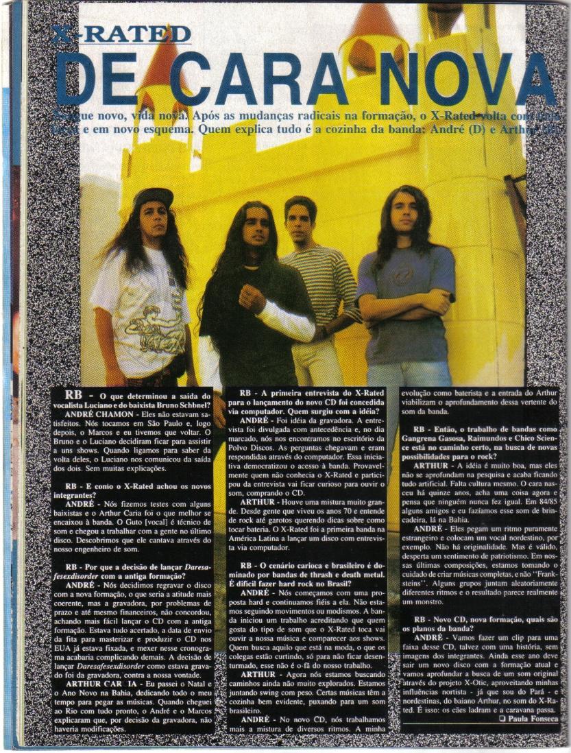 19 - Banda X-Rated - ROCK BRIGADE - Ano 13 - N. 95 - Junho de 1994.jpg