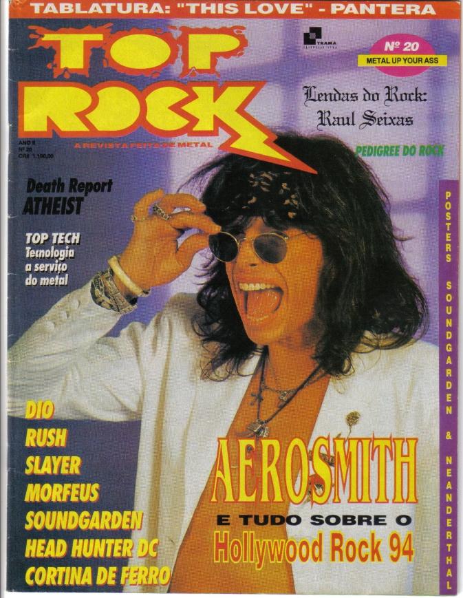 Banda X-Rated - Revista TOP ROCK capa - Ano 2- N. 20 - Janeiro de 1994